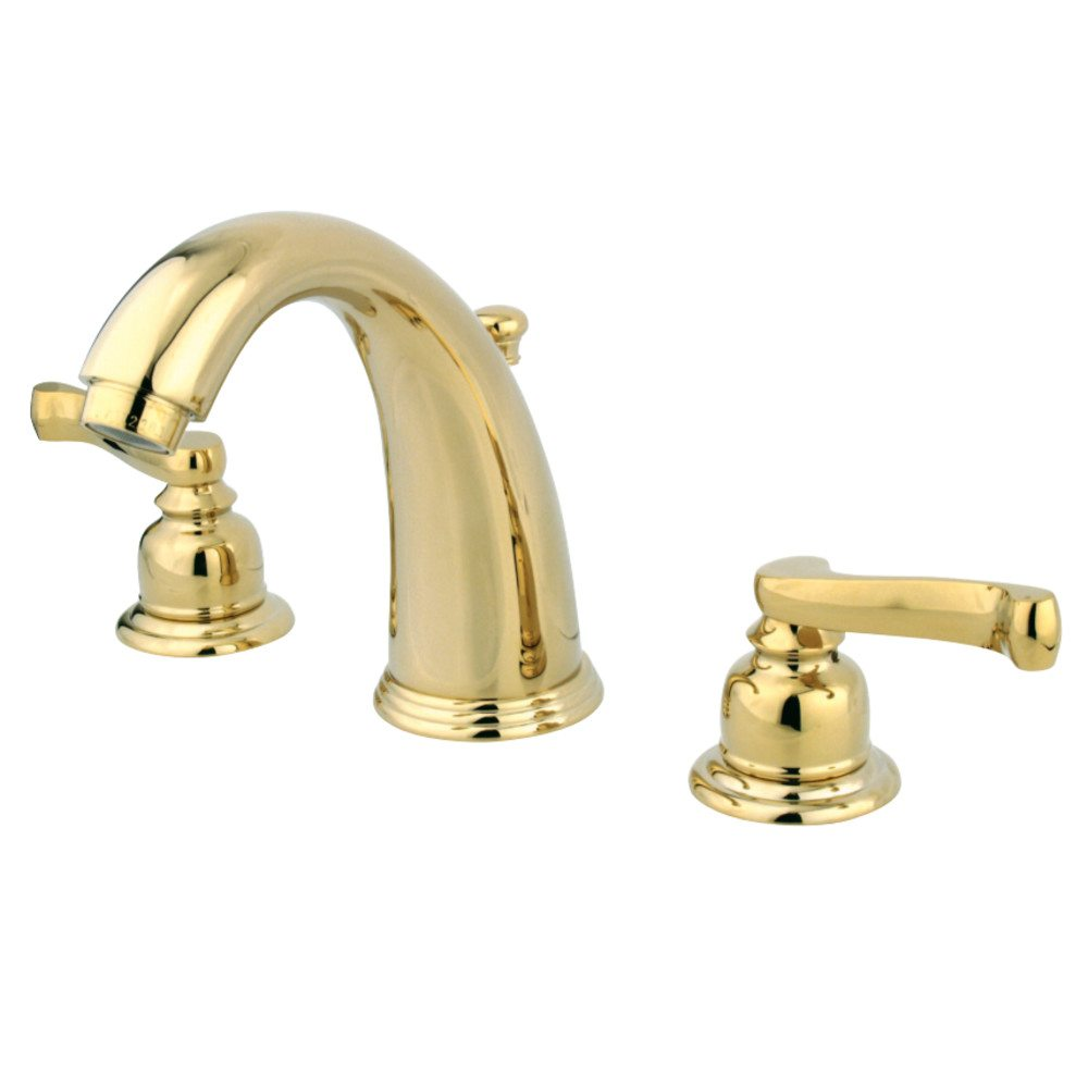 Kingston Brass Gkb982fl Water Saving Royale Widespread Lavatory Faucet Polished Brass