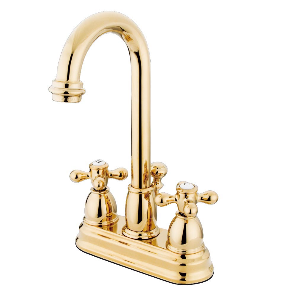 Kingston Brass Kb3612ax Restoration Lavatory Faucet With Retail Pop Up Polished Brass
