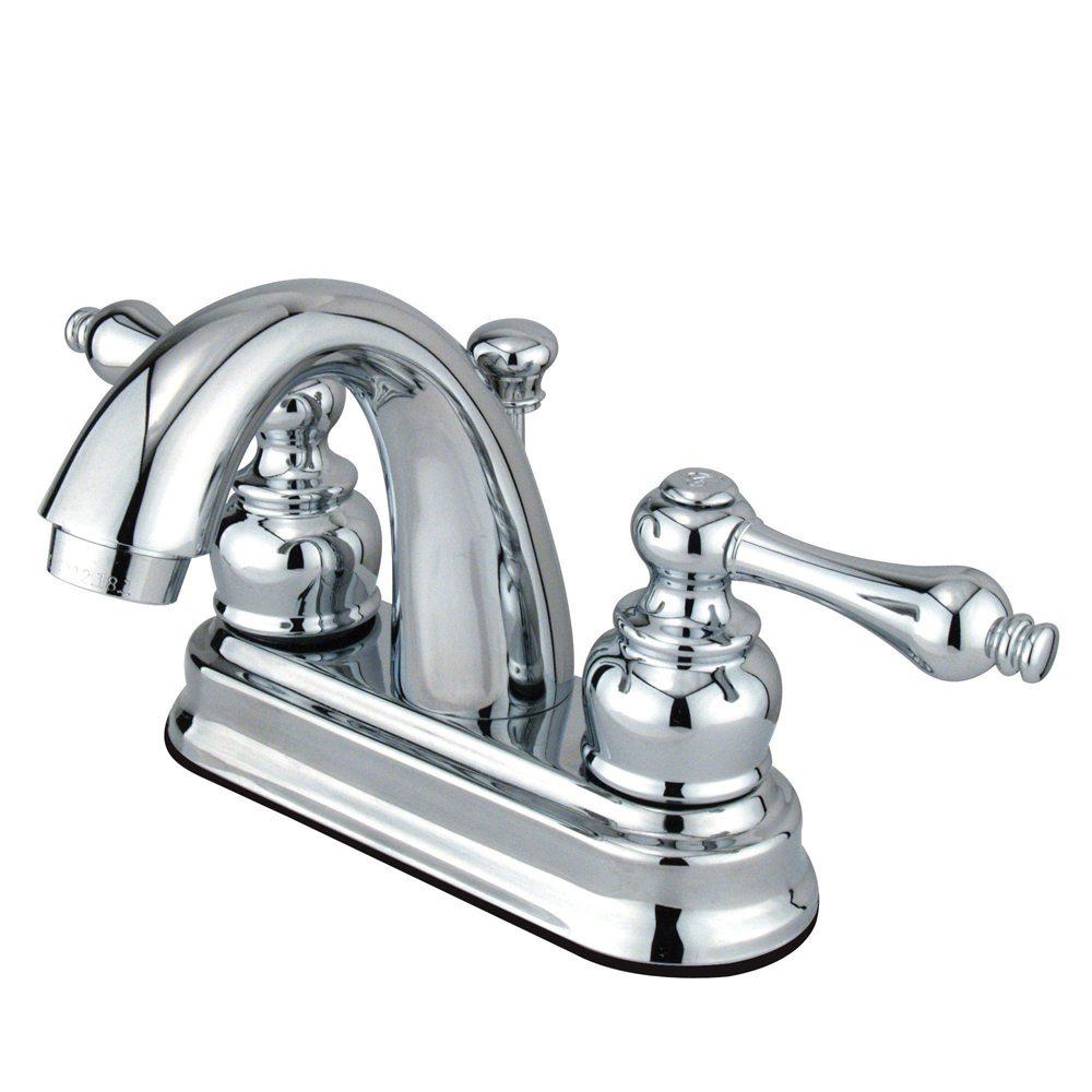 Kingston Brass Fb5611al Restoration 4 Inch Centerset Lavatory Faucet Polished Chrome Kingston