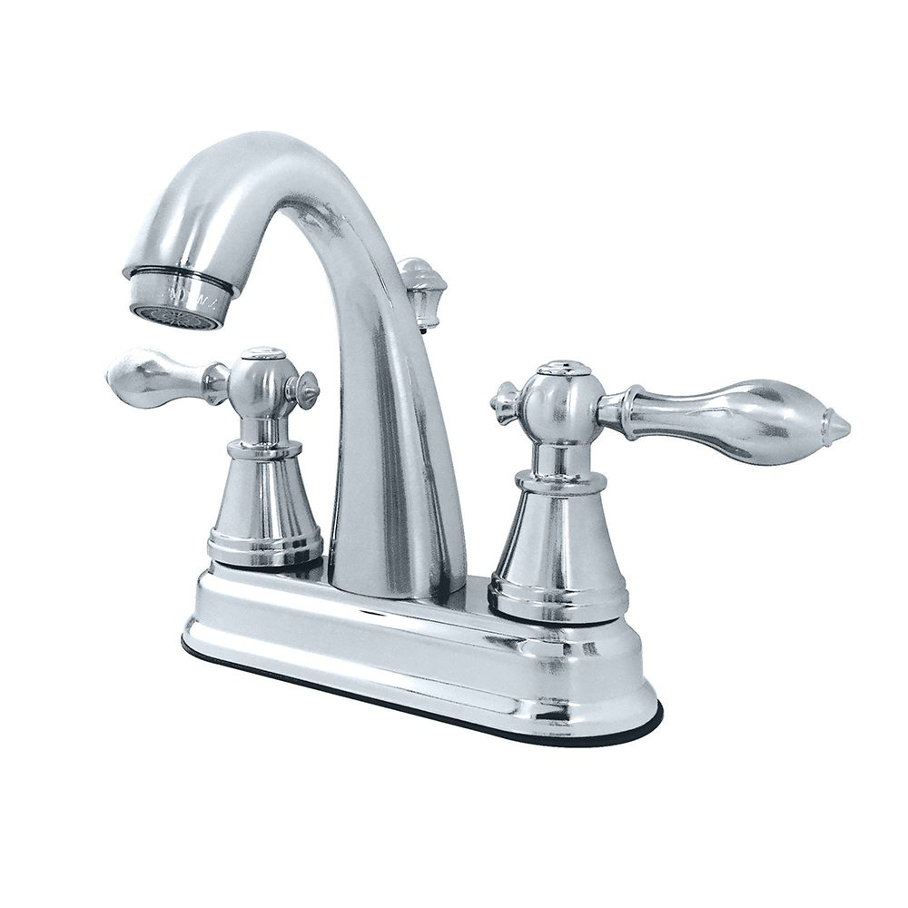 Fauceture Fs7611al 4 Inch Centerset Lavatory Faucet Polished Chrome Kingston Brass