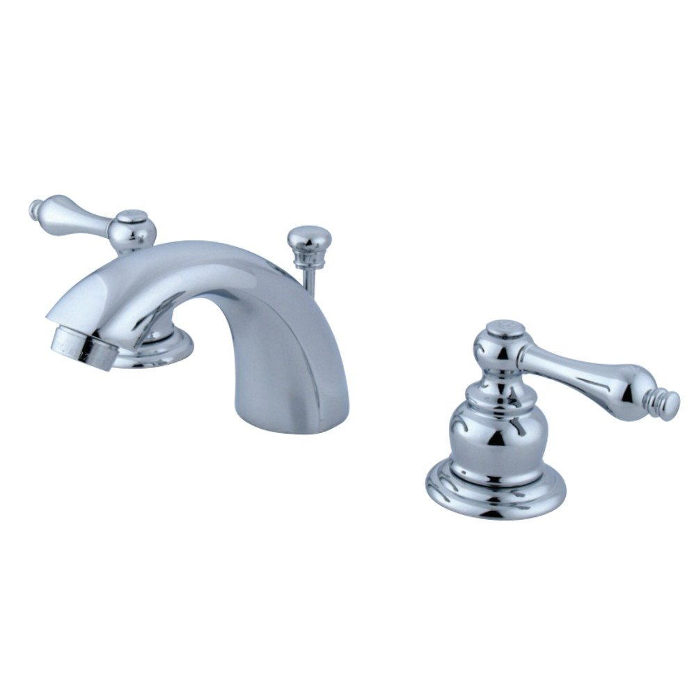 Kingston Brass Kb941al Victorian Mini Widespread Lavatory Faucet With Retail Pop Up Polished