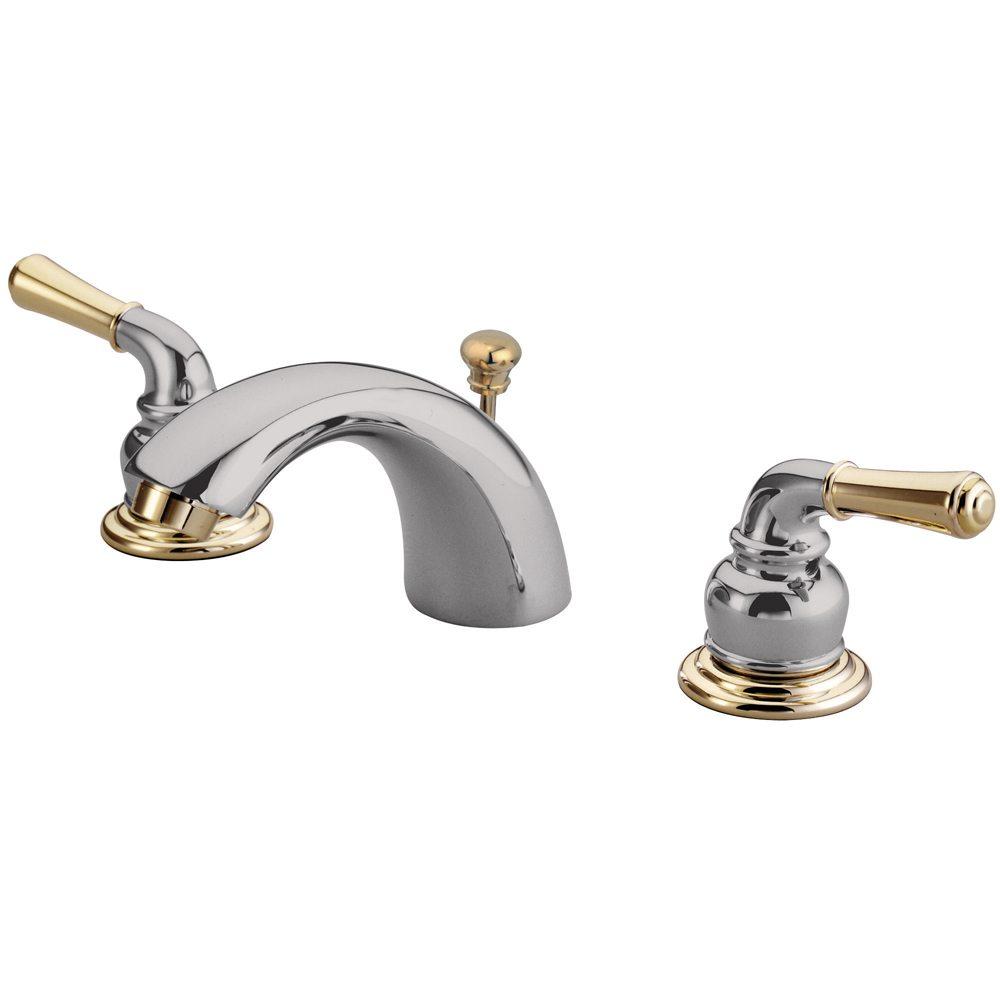 Kingston Brass Gkb954 Water Saving Magellan Mini Widespread Lavatory Faucet Chrome With