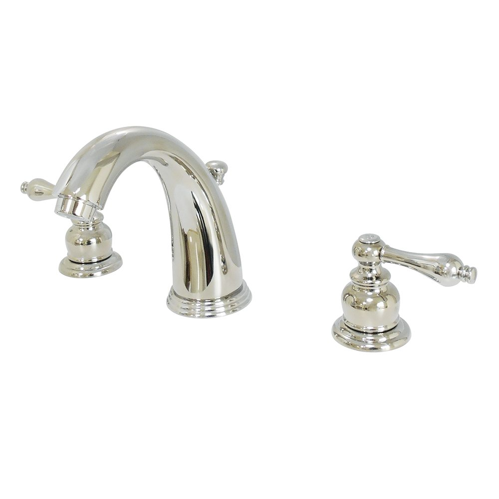 Victorian Polished Brass Widespread Bathroom Faucet: Kingston Brass KB986ALPN Victorian 8-Inch Widespread Lavatory Faucet With Retail Pop-Up