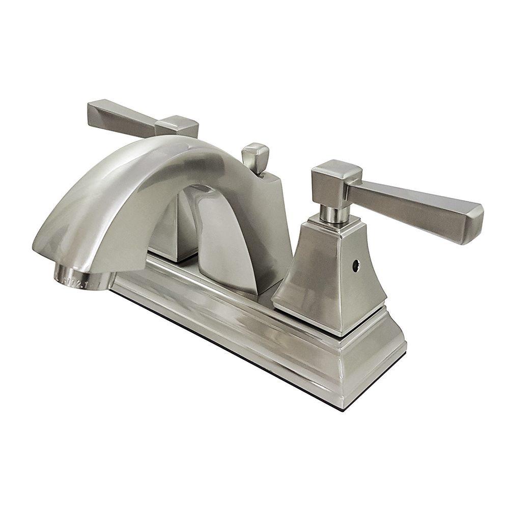 Fauceture fsc4648dl 4 inch centerset lavatory faucet - 8 inch brushed nickel bathroom faucet ...