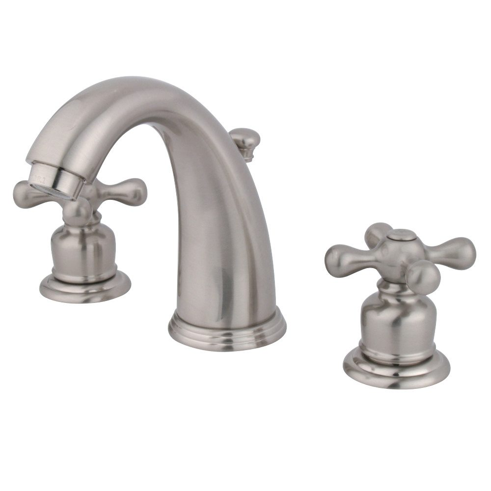 Shop Victorian Satin Nickel Widespread Bathroom Faucet: Kingston Brass GKB988AX Water Saving Victorian Widespread Lavatory Faucet, Brushed Nickel