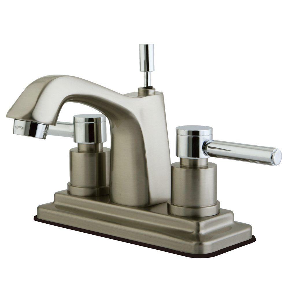 Kingston brass ks8647dl concord centerset lavatory faucet for Chrome or brushed nickel kitchen faucet