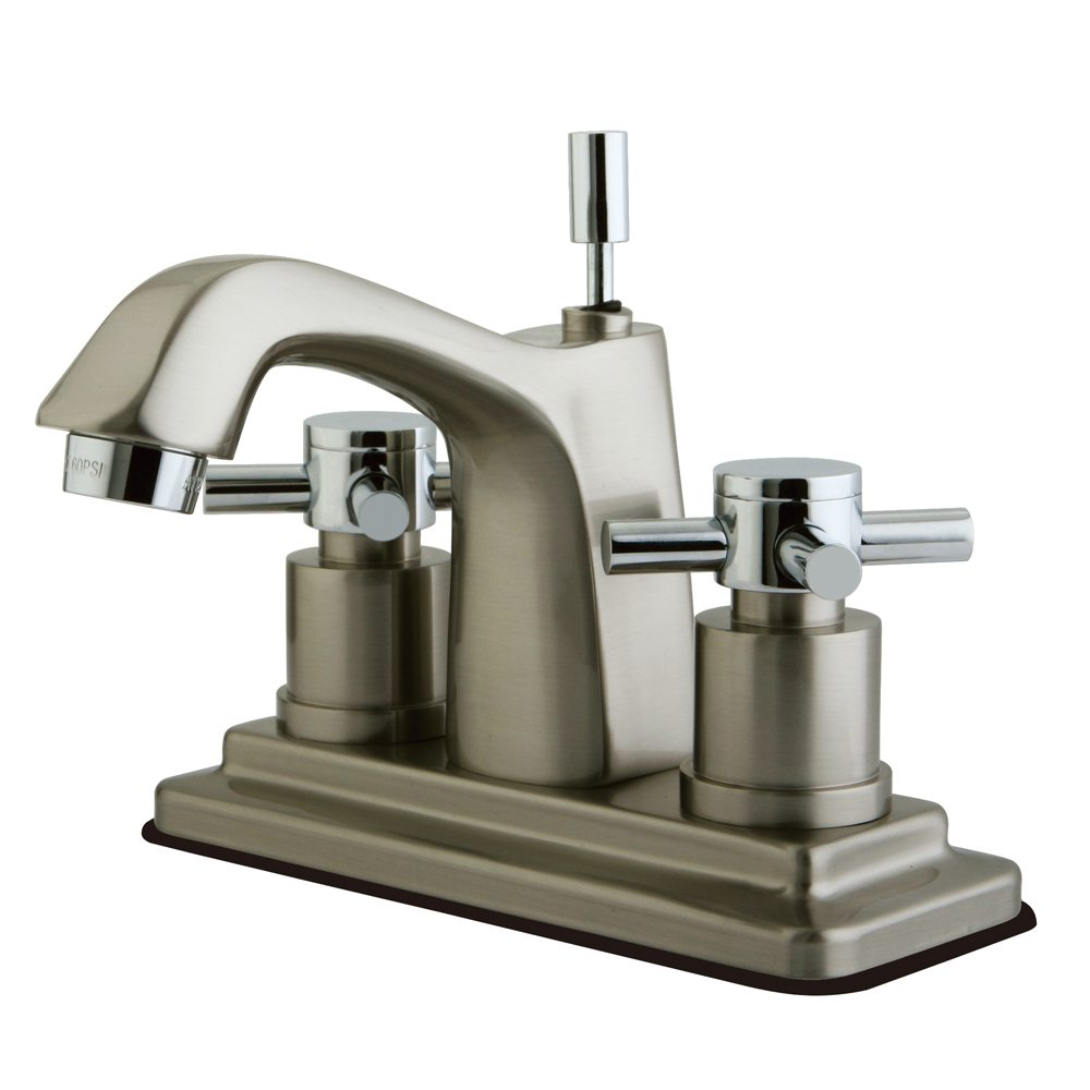Kingston brass ks8647dx concord centerset lavatory faucet for Chrome or brushed nickel kitchen faucet