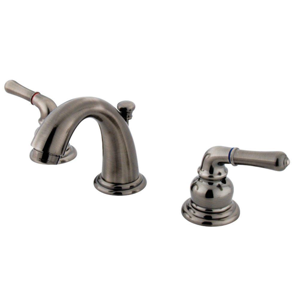 Kingston Brass Gkb913 Mini Widespread Lavatory Faucet Black Stainless Kingston Brass