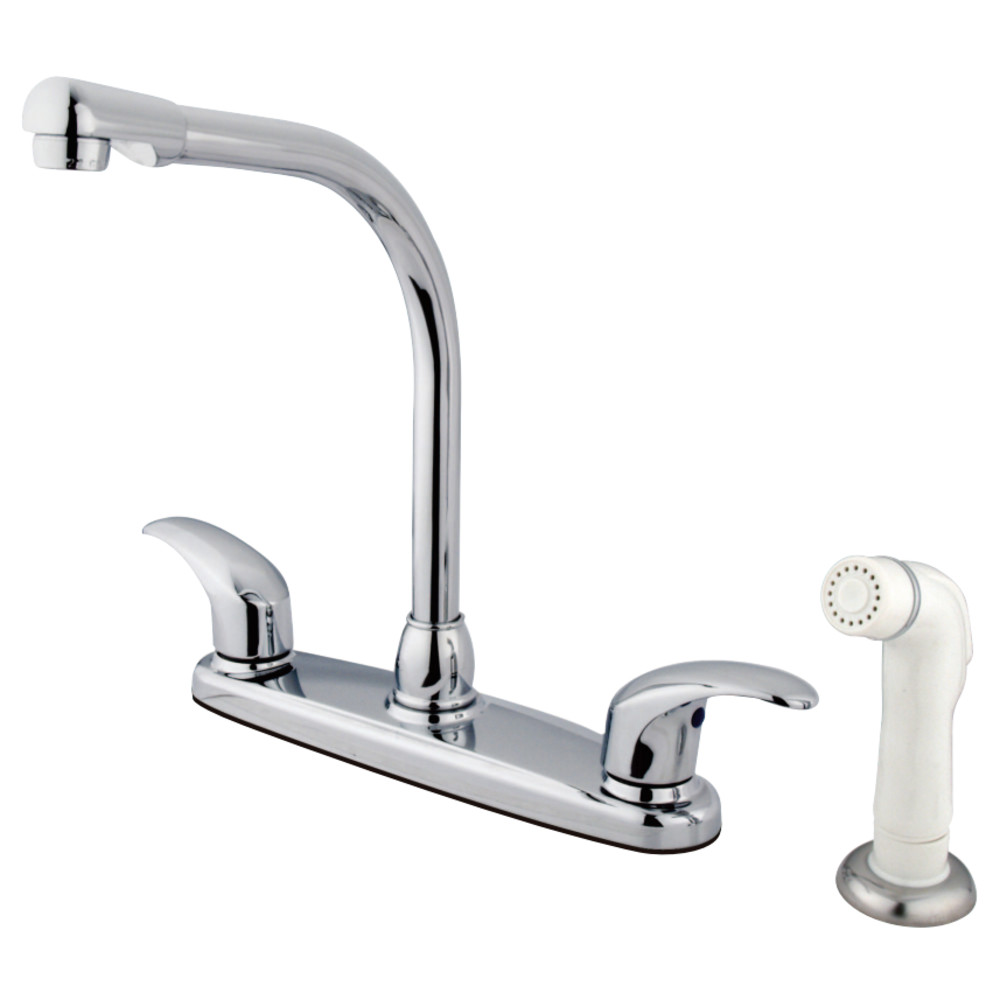high arch kitchen faucet kingston brass gkb711ll water saving legacy centerset high 18045