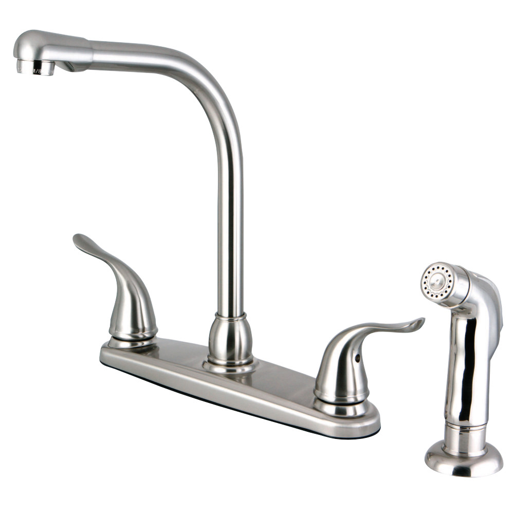 Kingston Brass Fb2758ylsp Yosemite 8 Inch Centerset Kitchen Faucet Satin Nickel Kingston Brass
