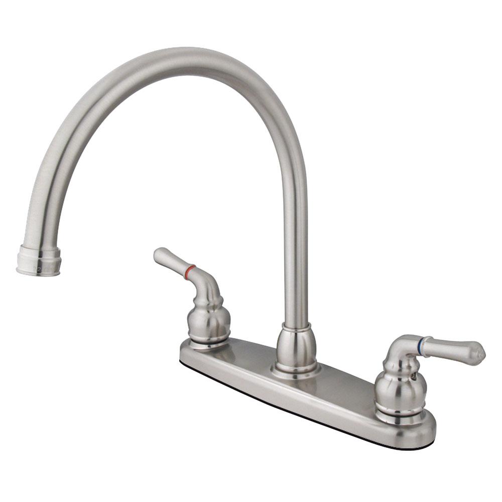 Kingston Brass Kb798ls Magellan 8 Centerset High Arch Kitchen Faucet Less Sprayer Kingston Brass