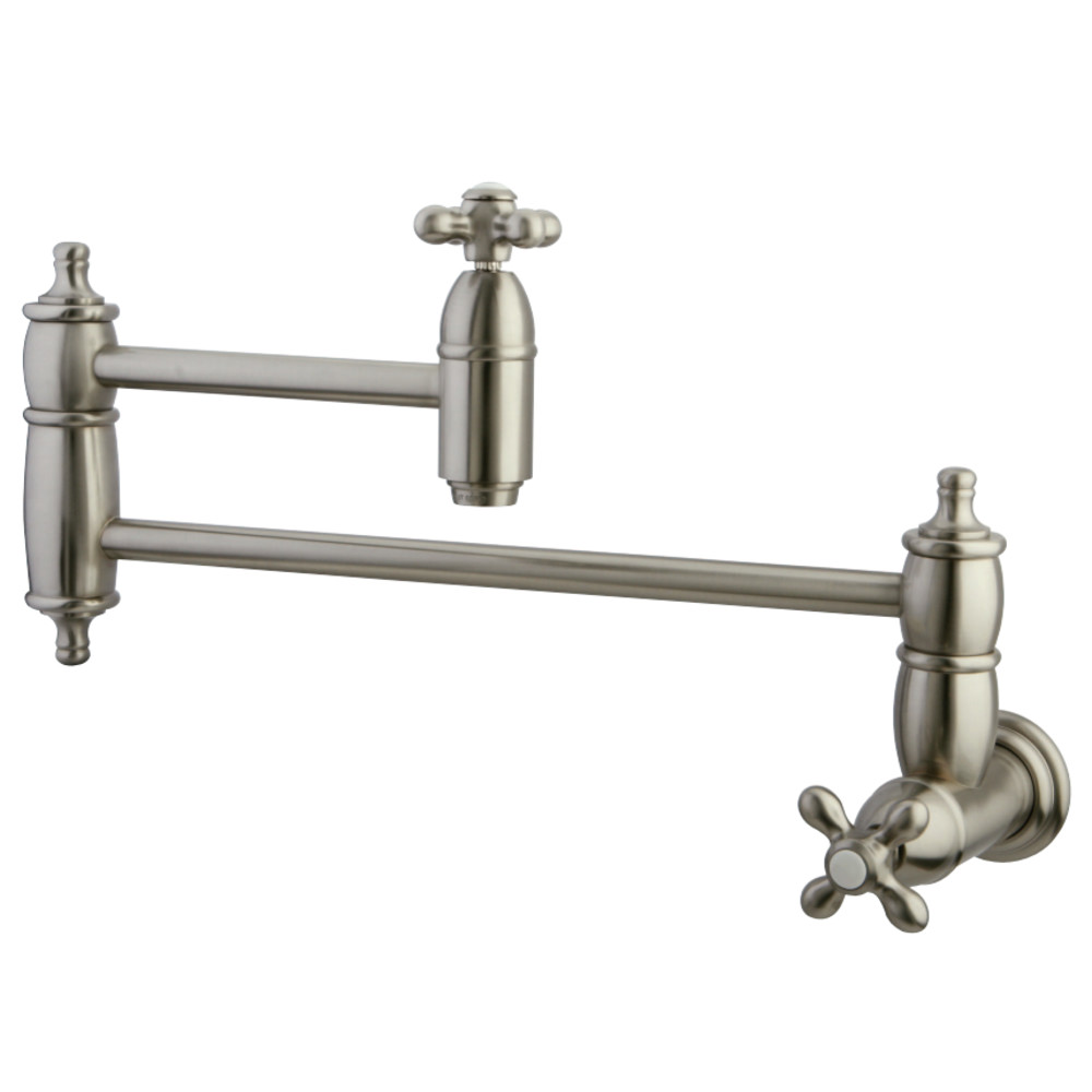 Kingston Brass KS3108AX Restoration Wall Mount Pot Filler Brushed