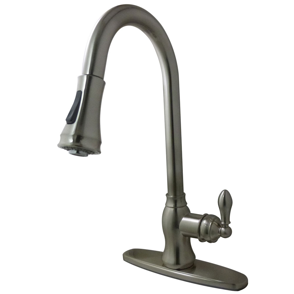 Kingston Brass Vintage Pull Down Single Handle Kitchen Faucet