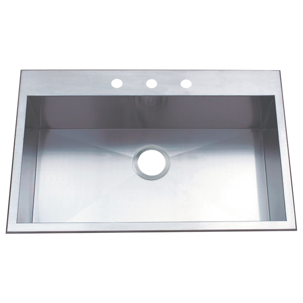 Single Bowl Kitchen Sinks Gourmetier kds32219bn uptowne drop in single bowl kitchen sink single bowl kitchen sink stainless steel return to previous page lightbox workwithnaturefo