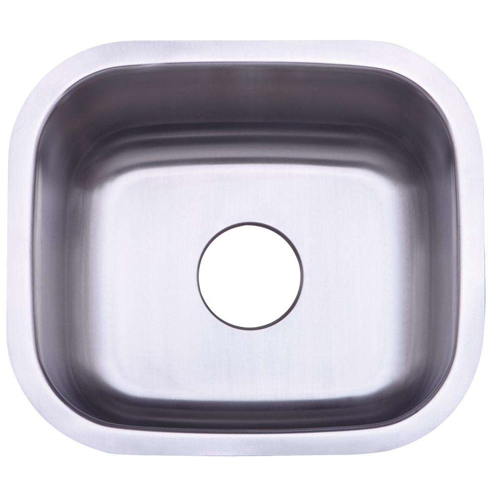 Gourmetier KU14167BN Undermount Single Bowl Kitchen Sink, Brushed ...