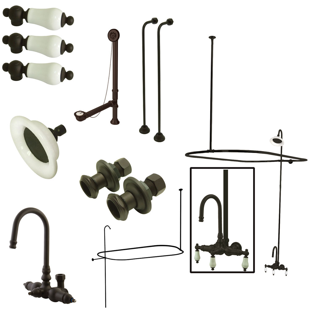 clawfoot tub and shower package. Lightbox Vintage Wall Mount High Rise Clawfoot Tub And Shower Package With