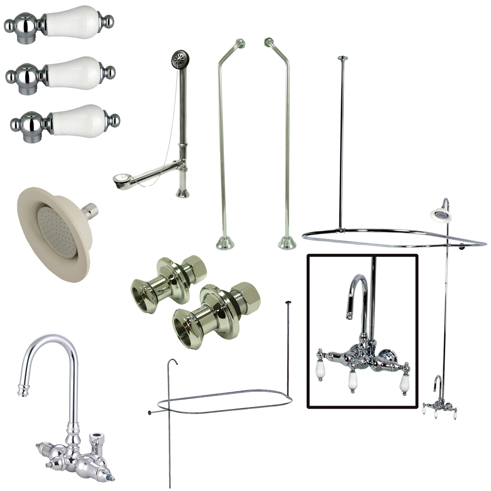 clawfoot tub and shower package. Lightbox Vintage Wall Mount Gooseneck Clawfoot Tub Faucet Package In Polished