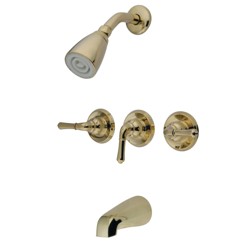 3 handle tub and shower faucet bronze. Lightbox Kingston Brass GKB232 Water Saving Magellan 3 Handle Tub And Shower