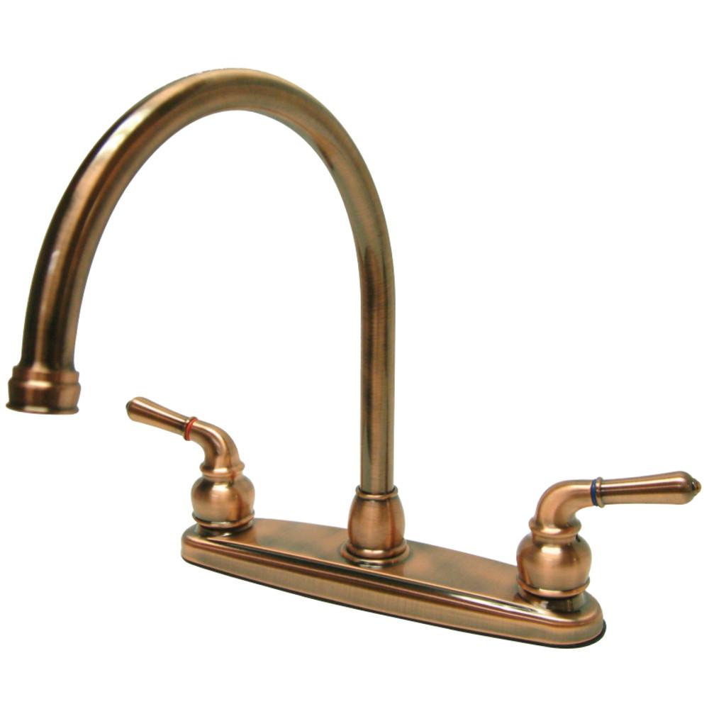 Kingston Brass Kb796ls Magellan 8 Centerset High Arch Kitchen Faucet Less Sprayer Kingston Brass