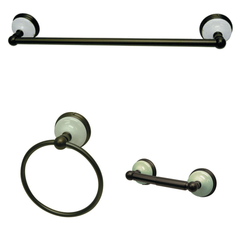 Kingston brass bak111248orb victorian 3 piece bathroom Oil rubbed bronze bathroom hardware