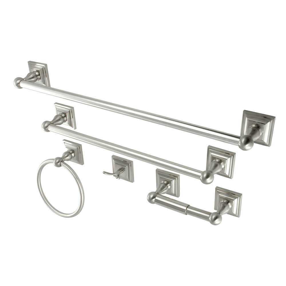 Kingston Brass Bahk3212478sn Bathroom Accessory Combo Satin Nickel Kingston Brass