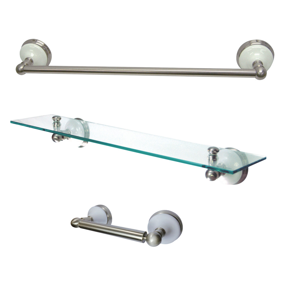 Kingston Brass Bak111289sn Victorian 3 Piece Bathroom Hardware Brushed Nickel Kingston Brass
