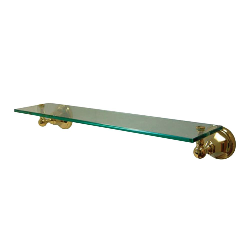 Kingston Brass BA4819PB Metropolitan Cosmetic Glass Shelf, Polished ...