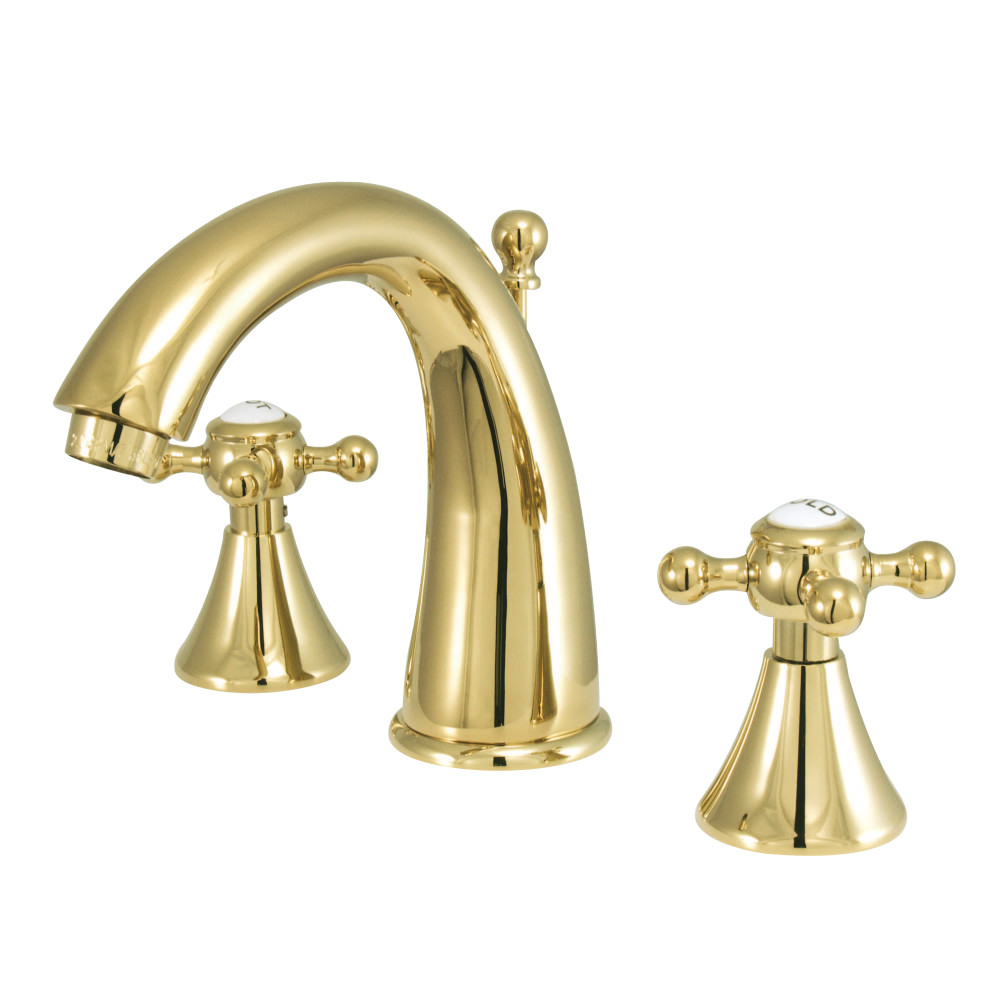 Kingston brass ks2972bx english country widespread - Brass bathroom faucets widespread ...