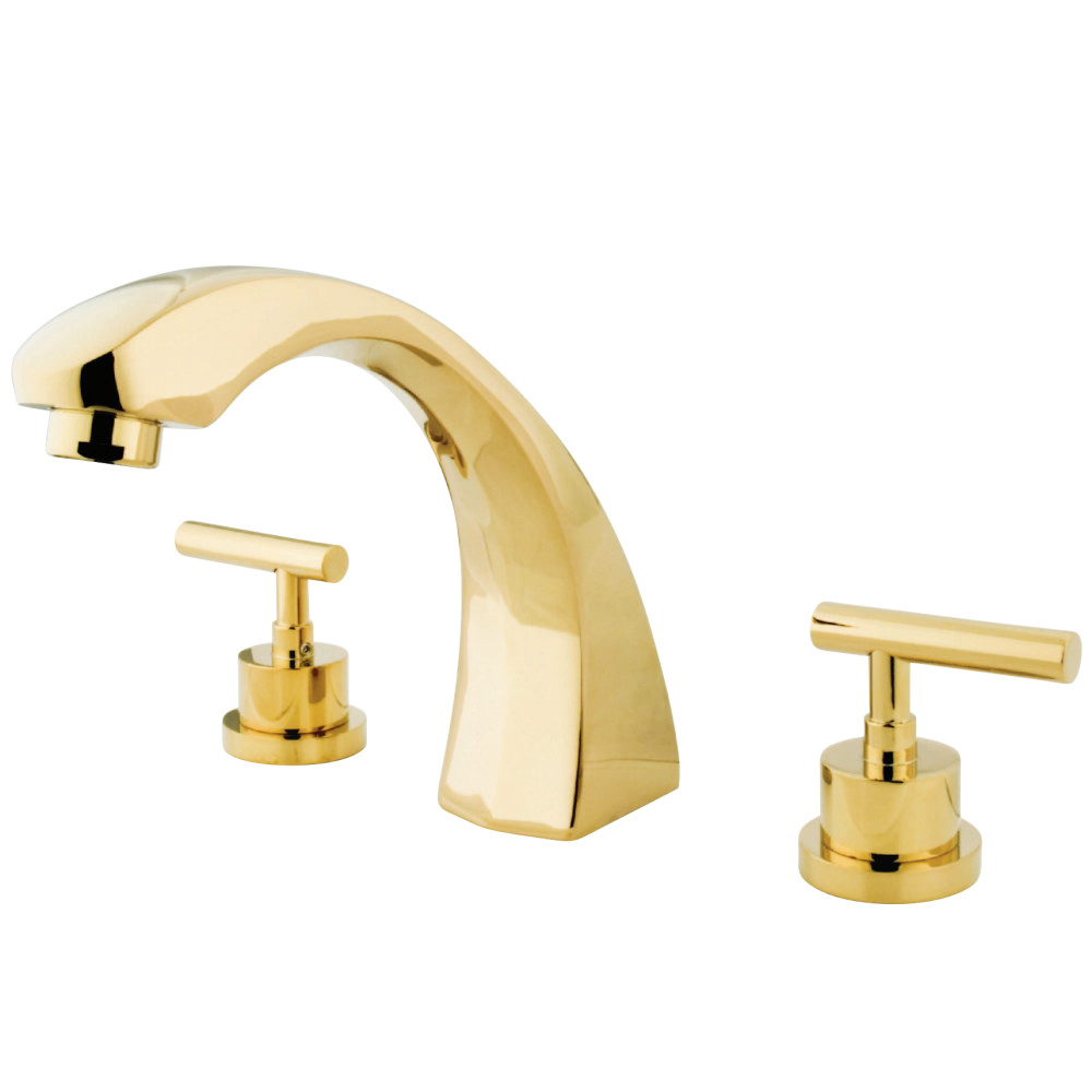 Kingston Brass KS4362CML Manhattan Roman Tub Filler Faucet, Polished ...