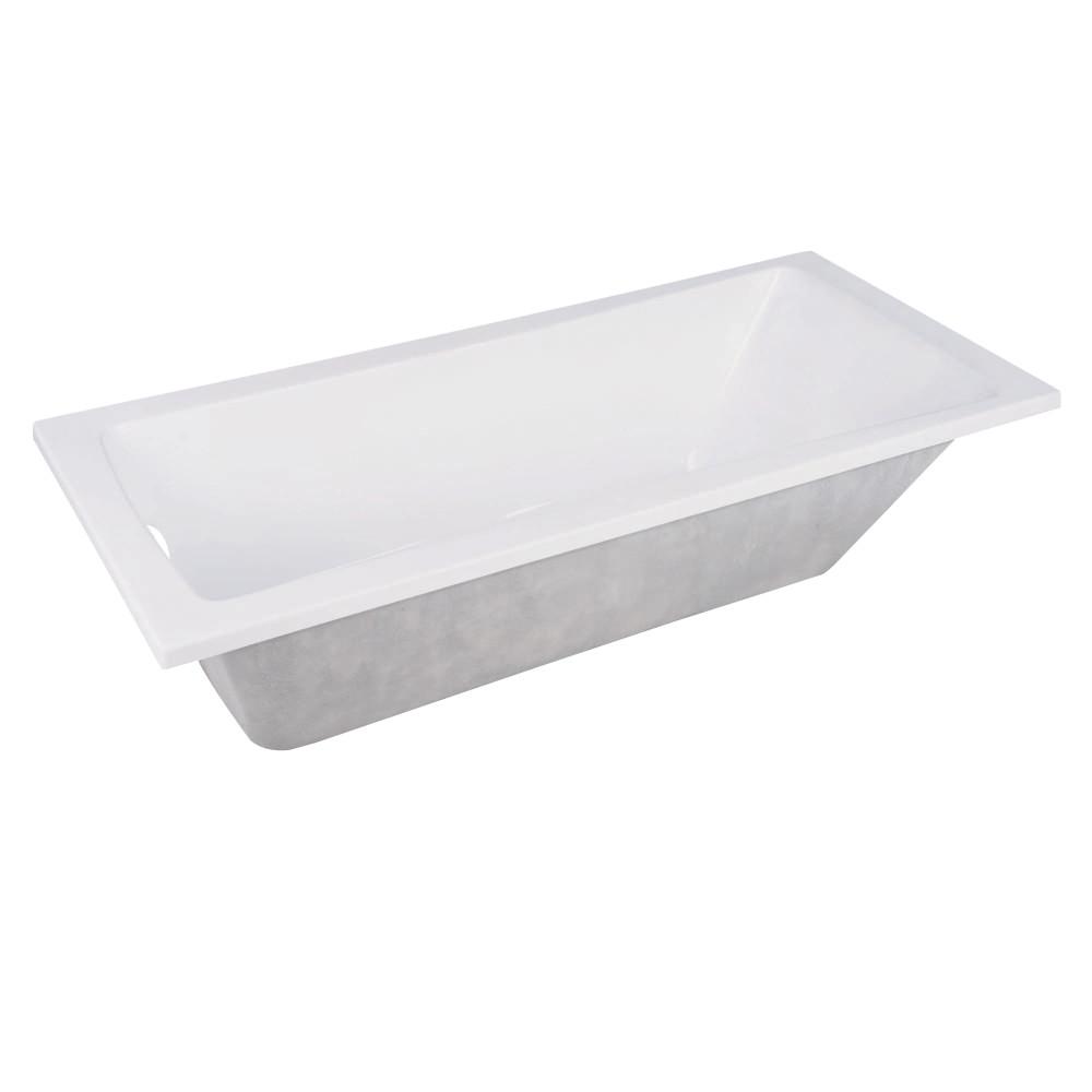 Kingston Brass Aqua Eden 59 Inch Acrylic Drop In Tub With