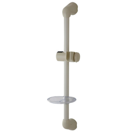 "Kingston Brass KX2525SG 24"" Shower Slide Bar with Adjustable Bracket and Soap Dish, White"