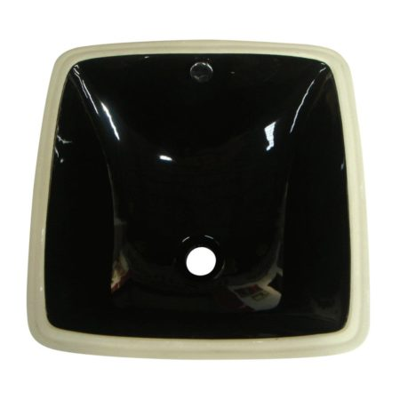 Kingston Brass LB18188K Fauceture LB18188K Vista Undermount Bathroom Sink, Black