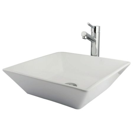Kingston Brass EVKS4256C Parisan Vessel Sink Package Come W/Concord Fct & Drain , Polished Chrome