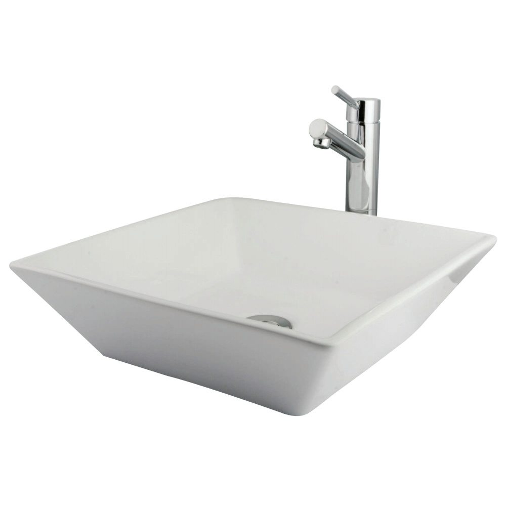 Kingston Brass EVKS4256C Parisan Vessel Sink Package Come W/Concord Fct U0026  Drain , Polished