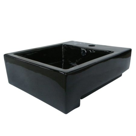 Kingston Brass EV4076K Fauceture EV4076K Citadel Vessel Sink, Black