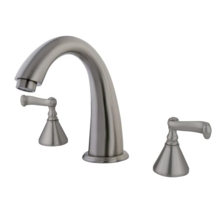 Kingston Brass KS2368FL Roman Tub Filler W/Fl Hdl, Satin Nickel