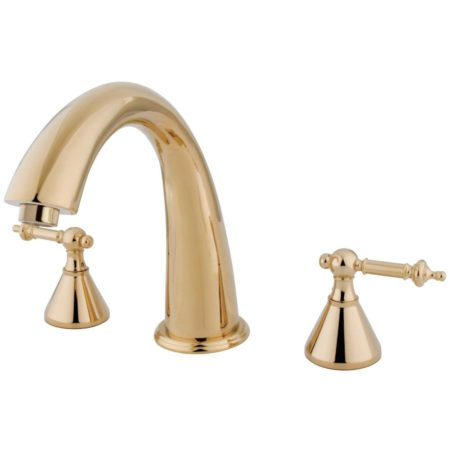 Kingston Brass KS2362TL Roman Tub Filler W/Tl Hdl, Polished Brass