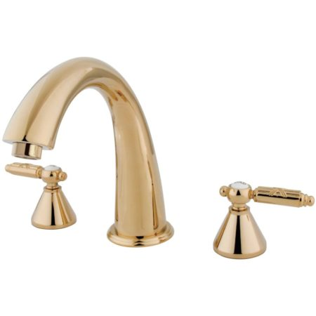 Kingston Brass KS2362GL Roman Tub Filler W/Gl Hdl, Polished Brass