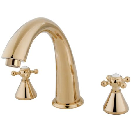Kingston Brass KS2362BX Roman Tub Filler W/Bx Hdl, Polished Brass