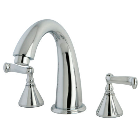 Kingston Brass KS2361FL Roman Tub Filler W/Fl Hdl , Polished Chrome