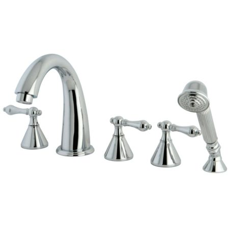 Kingston Brass KS23615AL 5 piece set bathroom Roman tub filler with hand shower
