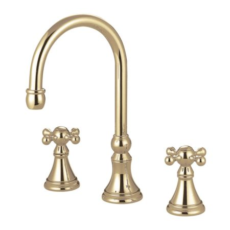 Kingston Brass KS2342KX Roman Tub Filler W/Kx Hdl, Polished Brass