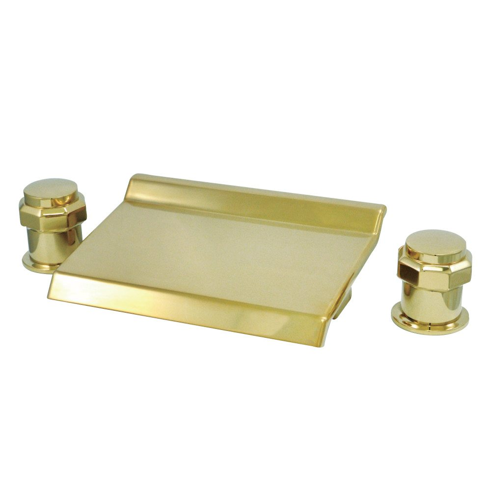 kingston brass ks2242ar waterfall roman tub filler polished brass