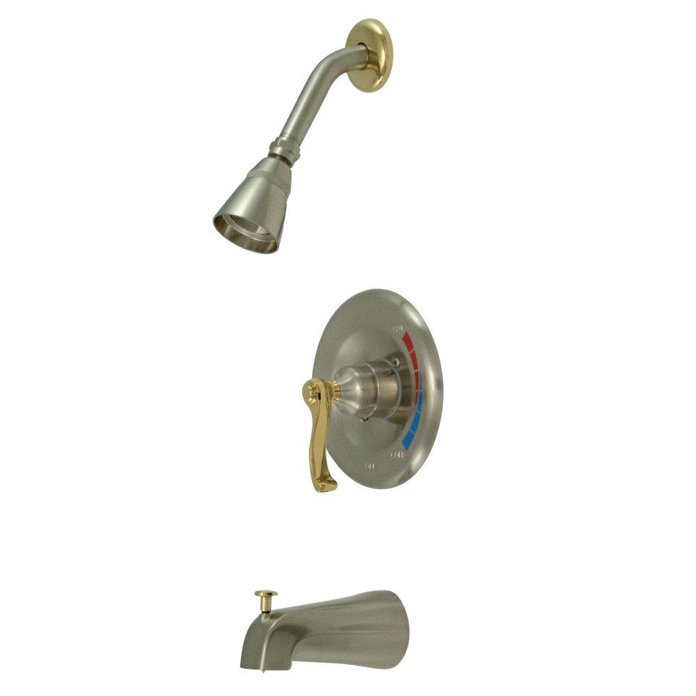 Kingston Brass KB8639FL Royale Tub & Shower Faucet, Brushed Nickel ...