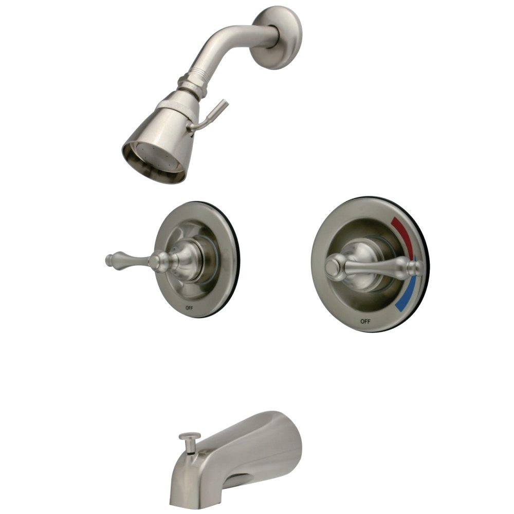 bathroom at resist pl wetherly lowes faucets with handle com tub spot shower and shop nickel heads brushed valve faucet moen bathtub