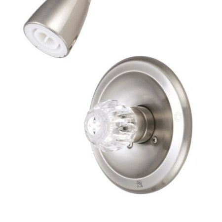 Kingston Brass KB538 SINGLE ACRYLIC handle TUB & SHOWER FAUCET, Satin Nickel