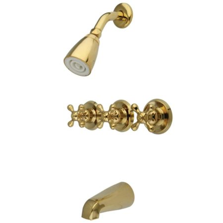 Kingston Brass KB232AX Tub & Shower Faucet with 3 AX Handles