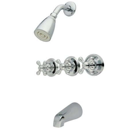Kingston Brass KB231AX Tub & Shower Faucet with 3 AX Handles