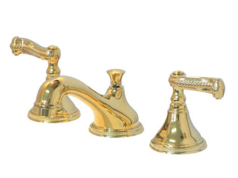 Kingston Brass KS9562RFL Widespread Lavatory Faucet with Rope French ...