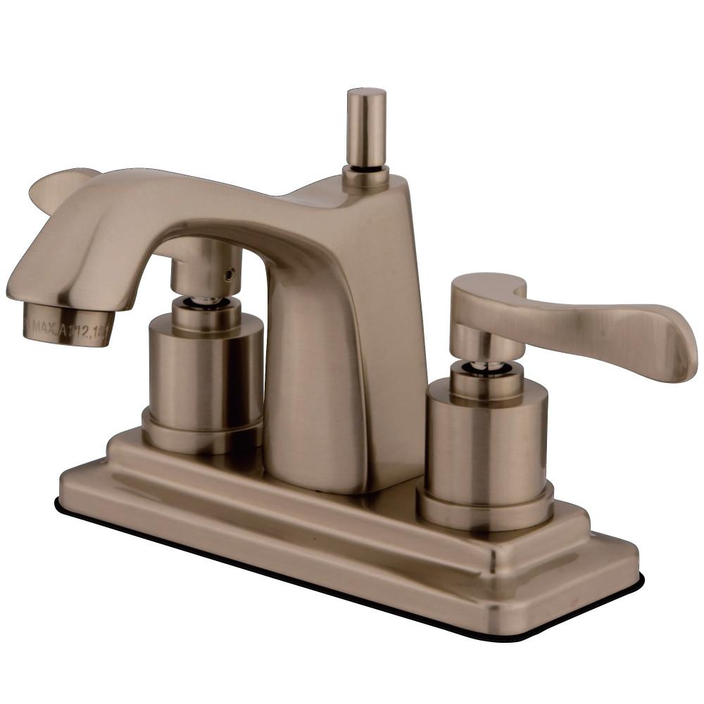 Kingston Brass Ks8648dfl 4 Centerset Lavatory Faucet Brushed Nickel Kingston Brass